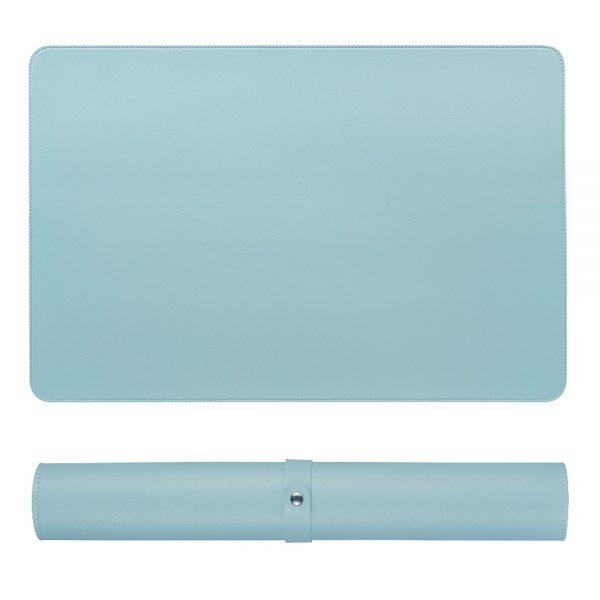 grand tapis de souris ergonomique bleu