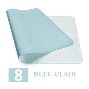 grand tapis de souris ergonomique bleu clair