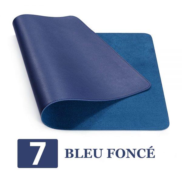 grand tapis de souris ergonomique bleu foncé