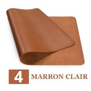 grand tapis de souris ergonomique marron clair