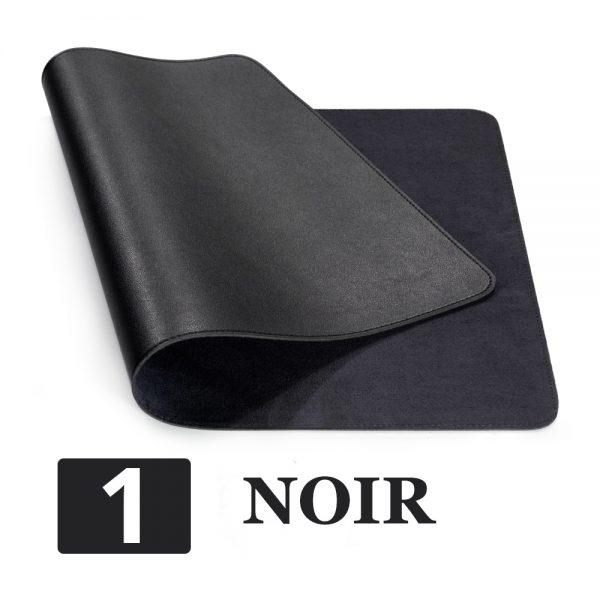 grand tapis de souris ergonomique noir