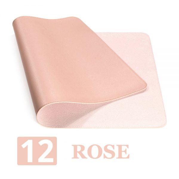 grand tapis de souris ergonomique rose