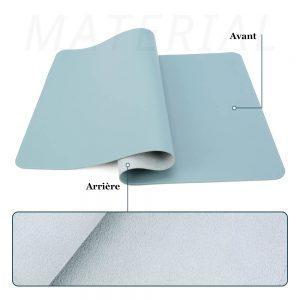 grand tapis de souris ergonomique bleu avant-arrière