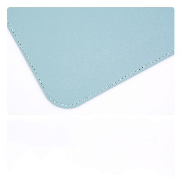 grand tapis de souris ergonomique bleu bordure