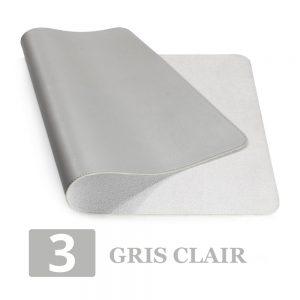 grand tapis de souris ergonomique gris clair