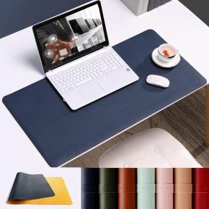 grand tapis de souris ergonomique bleu bureau